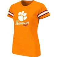 Clemson Tigers Women's Orange Backspin Slub Knit T-Shirt