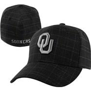 Oklahoma Sooners Graphite Plaid Monument Flex Hat