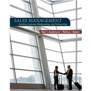 Sales Management : Building Customer Relationships and Partnerships,9780618721016