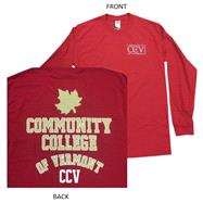 CCV Left Chest Long Sleeve T - Cardinal Red