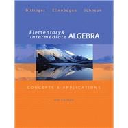 Elementary and Intermediate Algebra Concepts & Applications, Plus MyMathLab/MyStatLab -- Access Card Package