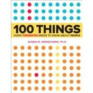 100 Things Every Presenter Needs to Know About People, 9780321821249