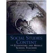 Social Studies Content for Elementary and Middle School Teachers,9780137011254