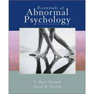 Essentials of Abnormal Psychology (with CD-ROM),9780495031284