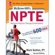 McGraw-Hills NPTE National Physical Therapy Exam, Second Edition,9780071771313