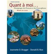 Quant a moi... Temoignages des Fran�ais et des Francophones (with Audio CD),9781428231320