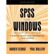 SPSS for Windows Step by Step: A Simple Study Guide and Reference, 17.0 Update,9780205661336