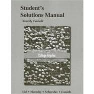 Student Solutions Manual for College Algebra,9780321791382