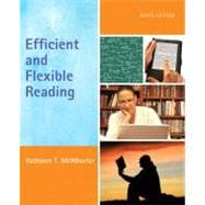 Efficient and Flexible Reading (with NEW MyReadingLab with Pearson eText Student Access Code Card),9780321841391