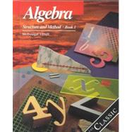 Algebra Structure and Method Book 1,9780395461402