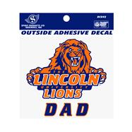 LU Decal - Lincoln University Dad