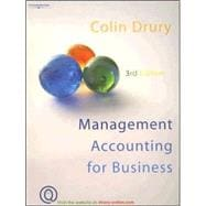 Management Accounting For Business, 9781844801527