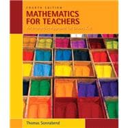 Mathematics for Teachers : An Interactive Approach for Grade K-8,9780495561668