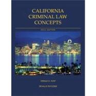 California Criminal Law Concepts and Student Powernotes Package 2012 Edition,9781256521693