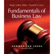 Fundamentals of Business Law : Summarized Cases,9780324381726