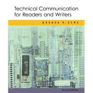 Technical Communication for Readers and Writers,9780618221738