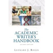 Academic Writer's Handbook, The (with MyCompLab NEW with Pearson eText Student Access Code Card)