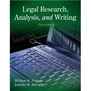 Legal Research, Analysis, and Writing,9781133591900