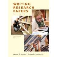 Writing Research Papers (Perfect),9780205651924