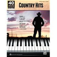 40 Sheet Music Bestsellers -- Country Hits : Piano/Vocal/Gui..., 9780739081938