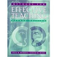 Methods For Effective Teaching (2nd Ed),9780205291939