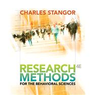 Research Methods For The Behavioral Sciences,9780840031976