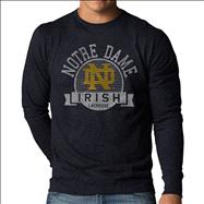 Notre Dame Fighting Irish '47 Brand Fall Navy Scroll Vintage Scrum Long Sleeve T-Shirt