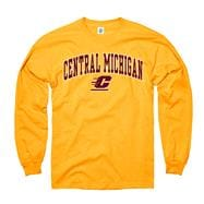 Central Michigan Chippewas Youth Gold Perennial II Long Sleeve T-Shirt