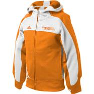 Tennessee Volunteers adidas Girls Tenn Orange Charger Full Zip Hooded Sweatshirt