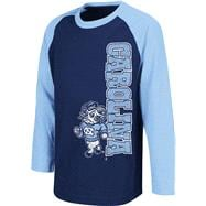 North Carolina Tar Heels Navy Kids 4-7 Warrior Long Sleeve T-Shirt