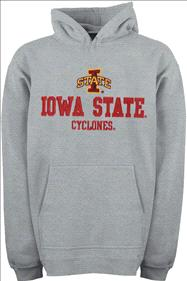 Iowa State Cyclones Youth Grey Tackle Twill Hooded Sweatshirt