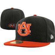 Auburn Tigers New Era 59FIFTY 2 Tone Graphite Fitted Hat