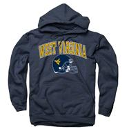 West Virginia Mountaineers Navy Football Helmet Hooded Sweatshirt