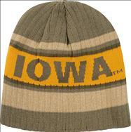 Iowa Hawkeyes Khaki Coast Fleece Lined Knit Hat