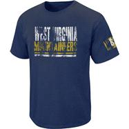 West Virginia Mountaineers Boxed Up Distressed Pig Dye Tee
