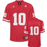Nebraska Cornhuskers Football Jersey: adidas #10 Red Replica Football Jersey