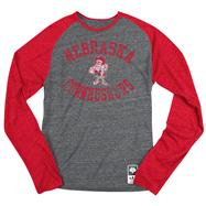 Nebraska Cornhuskers Red adidas Originals Gym Class Tri-Blend Long Sleeve Tee