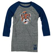 Auburn Tigers adidas Originals Women's Vintage Mascot 3/4 Sleeve Tri-Blend T-Shirt
