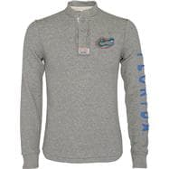 Florida Gators Heather Grey Rafter Waffle Knit Henley Long Sleeve Shirt