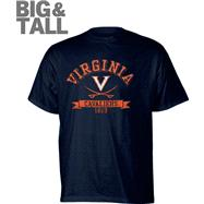 Virginia Cavaliers Navy Distressed Logo Big & Tall T-Shirt