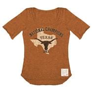 Texas Longhorns Women's Dark Orange Retro Brand 1963 Vintage Scoop Neck T-Shirt
