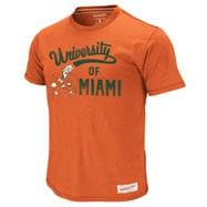 Miami Hurricanes Mitchell & Ness Orange Vintage Sweep T-Shirt
