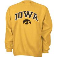 Iowa Hawkeyes Gold Tackle Twill Crewneck Sweatshirt