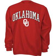 Oklahoma Sooners Youth Cardinal Tackle Twill Crewneck Sweatshirt