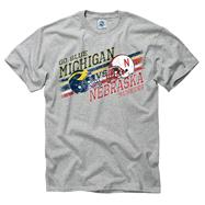 Michigan Wolverines vs Nebraska Cornhuskers Stance Rivalry T-Shirt