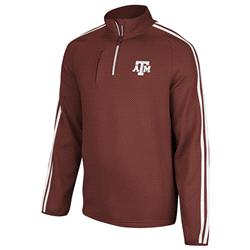 Texas A&M Aggies adidas 3-Stripe Quarter Zip Shooting Top - Maroon