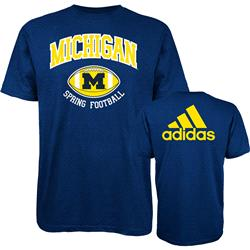 Michigan Wolverines adidas Spring Football Hitch & Go T-Shirt - Navy
