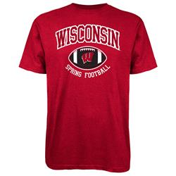 Wisconsin Badgers adidas Spring Football Hitch & Go T-Shirt - Red