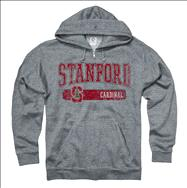 Stanford Cardinal Heather Grey Bridge Ring Spun Full-Zip Hooded Sweatshirt