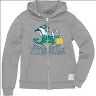 Notre Dame Fighting Irish Silver Original Retro Brand Thermal-Lined Full-Zip Hooded Sweatshirt
